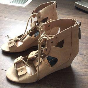 Dolce Vita Lorena Lace-Up Wedge Sandal- Size 7.5